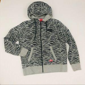 Nike oversized zip up hoodie sweatshirt zebra